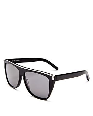 Saint Laurent Men\\\'s Flat Top Square Sunglasses, 57mm-Men