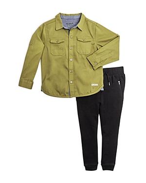 Hudson Boys ButtonDown Shirt  Joggers Set  Little Kid