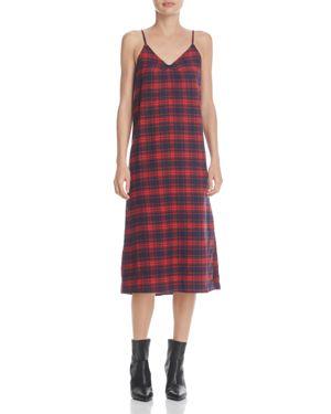 Ppla Ella Plaid Slip Dress