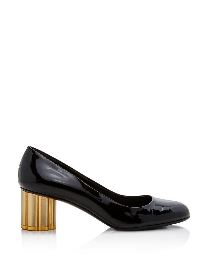 2c912037d6fd Salvatore Ferragamo Women s Lucca Patent Leather Floral Heel Pumps ...