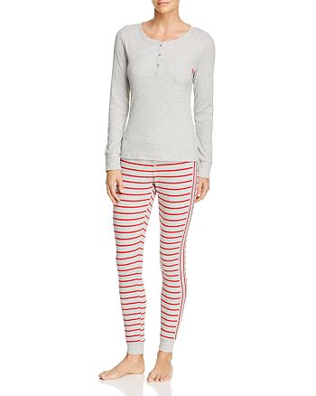 Calvin Klein - Minimal Stripe Long Sleeve PJ Set