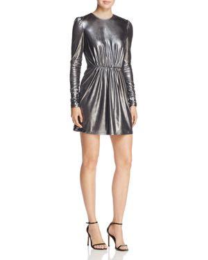 Aqua Shirred Metallic Mini Dress - 100% Exclusive