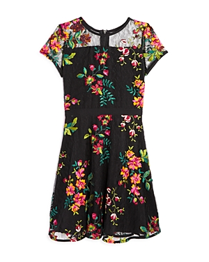 Aqua Girls' Embroidered Floral Lace Dress, Big Kid - 100% Exclusive