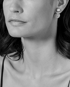 LAGOS - Sterling Silver Signature Caviar Bead Front-Back Stud Earrings