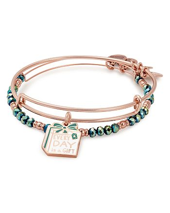 Alex and Ani - Everyday Is A Gift Expandable Wire Bangles, Set of 2