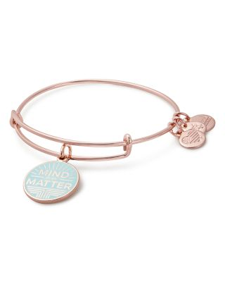 ALEX AND ANI Mind Over Matter Expandable Charm Bangle (Nordstrom Exclusive) in Rose Gold