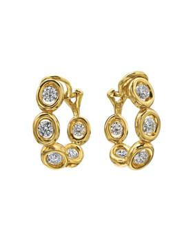 Gumuchian - 18K Yellow Gold Diamond Small Oasis Curve Earrings