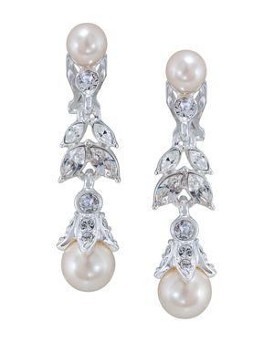 Carolee Floral Drop Clip-On Earrings