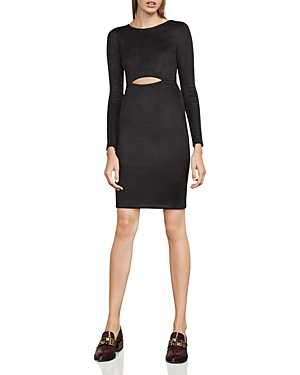 Bcbgmaxazria Whitley Faux-Suede Cutout Dress