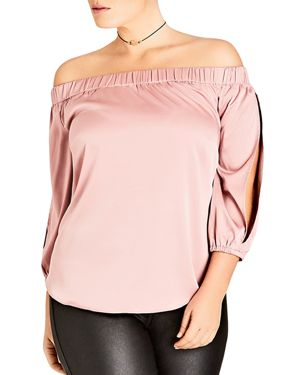 City Chic Off-the-Shoulder Top