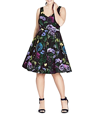 City Chic Perfect Floral Dress