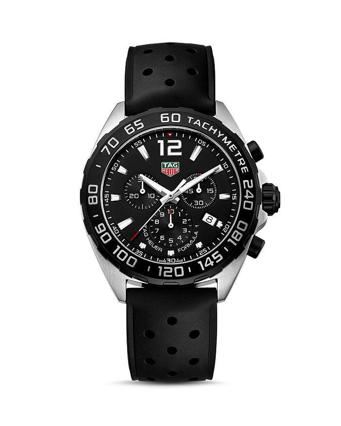 TAG Heuer - Formula 1 Quartz Men's Black Rubber Chronograph, 43mm