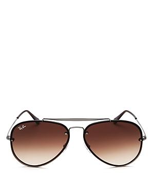Ray-Ban Unisex Blaze Brow Bar Aviator Sunglasses, 61mm