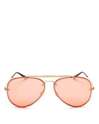 e1d970fe10 Ray Ban Ray-Ban Blaze Mirrored Aviator Sunglasses