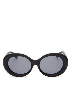 Quay Mess Around Round Sunglasses, 57mm