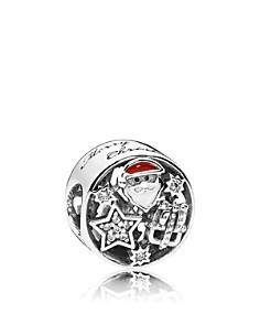 PANDORA Charm - Sterling Silver, Cubic Zirconia & Enamel Christmas Joy - Bloomingdale's_0