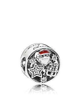 PANDORA - Charm - Sterling Silver, Cubic Zirconia & Enamel Christmas Joy