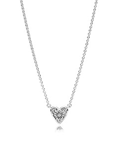 PANDORA Sterling Silver & Cubic Zirconia Heart of Winter Necklace - Bloomingdale's_0