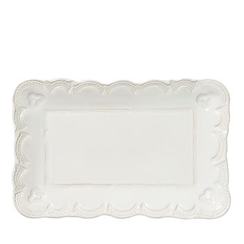 VIETRI - Incanto Stone White Lace Small Rectangular Platter