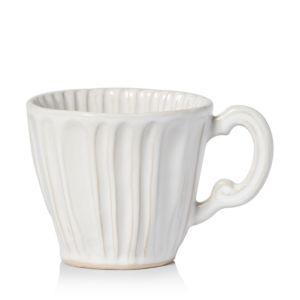Vietri Incanto Stone White Stripe Mug