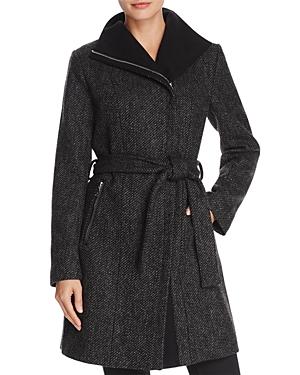 T Tahari Eva Asymmetric Coat-Women