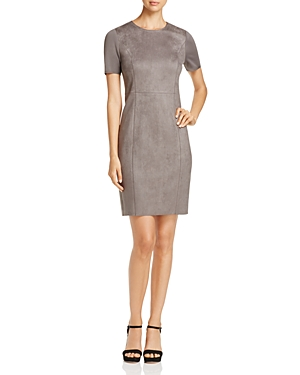 Elie Tahari Emily Faux-Suede Sheath Dress