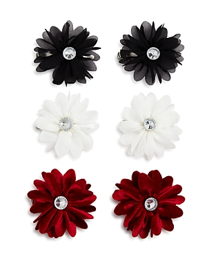 Capelli Girls' Chiffon Flower Clips, Set of 6