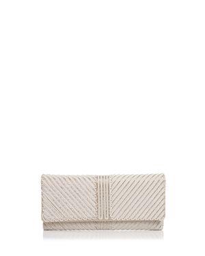 Sondra Roberts Flap Embellished Satin Clutch 3028824