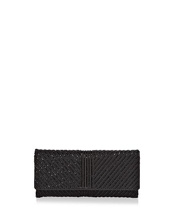 Sondra Roberts - Flap Embellished Satin Clutch