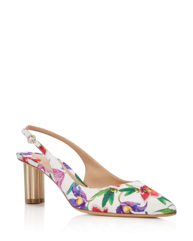 Salvatore Ferragamo Women's Floral Slingback Pumps - 100% Exclusive