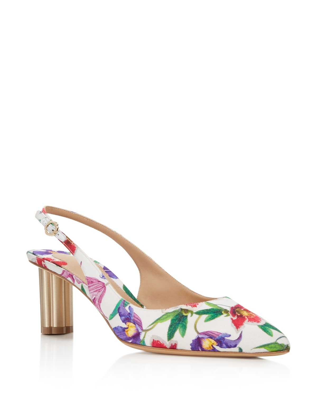 Salvatore Ferragamo Women's Floral Slingback Pumps - 100% Exclusive 4ZRKH6NP6a