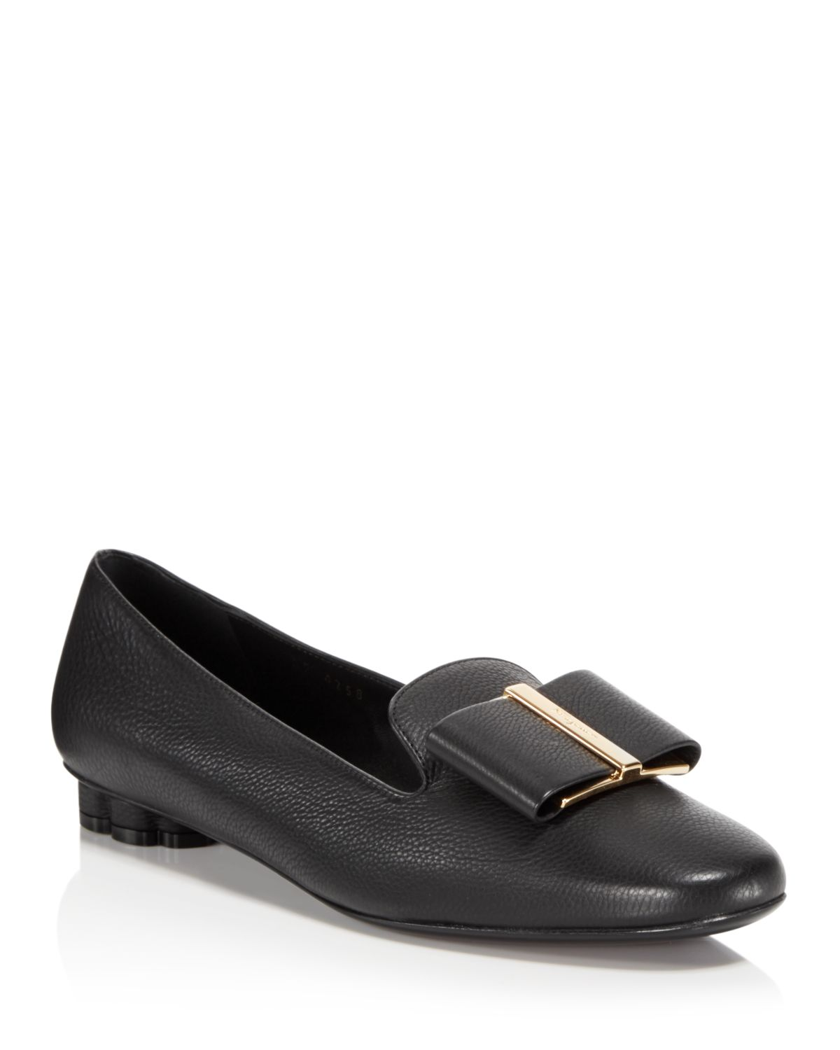 Salvatore Ferragamo Women's Bow Detail Leather Loafers