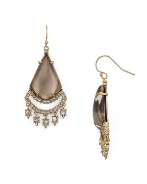 Alexis Bittar Crystal Lace Chandelier Earrings