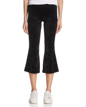 Bailey 44 Pg-13 Crushed Velvet Cropped Flared Pants