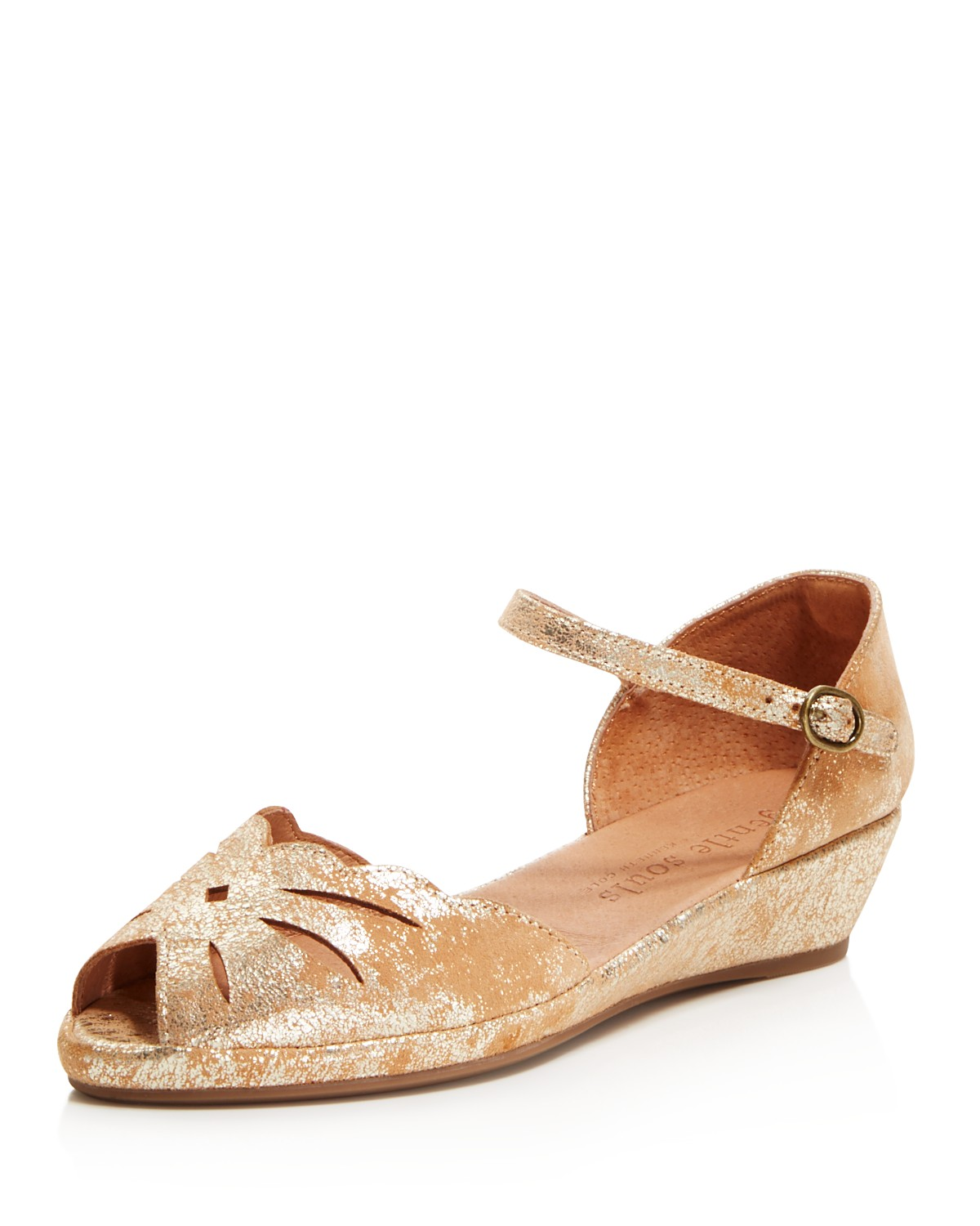 Kenneth Cole Gentle Souls Women's Lily Moon Leather Wedge Flats 7pVXm
