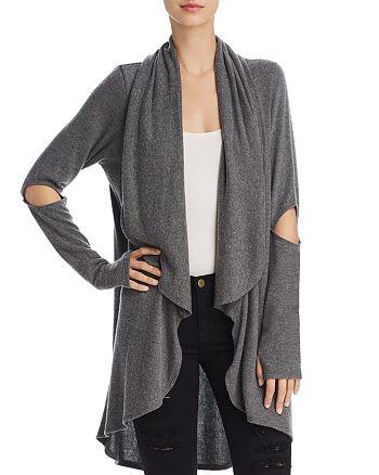 LNA - Cutout-Sleeve Cardigan