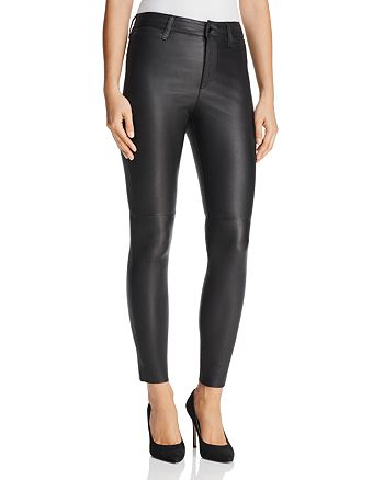 Joe's Jeans - The Charlie Ankle Skinny Jeans in Veruca Black Leather