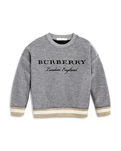 Burberry Girls' Shimmer Logo Sweatshirt - Little Kid, Big Kid - Bloomingdale's_0