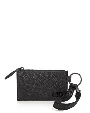 Salvatore Ferragamo - Firenze Pebbled Leather Zip Wallet