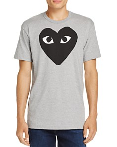 Comme Des Garcons PLAY - Black Heart Crewneck Short Sleeve Tee