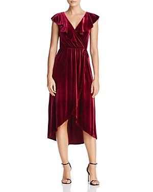 Aqua Velvet Faux Wrap Dress - 100% Exclusive