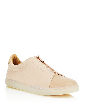 Pairs in Paris - Women's Belleville Leather & Suede Zipped Sneakers - 100% Exclusive