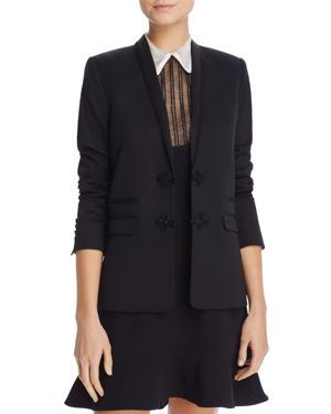The Kooples Braid-Detail Stretch Blazer
