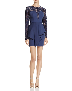Bcbgmaxazria Kerrianne Floral Lace Peplum Dress