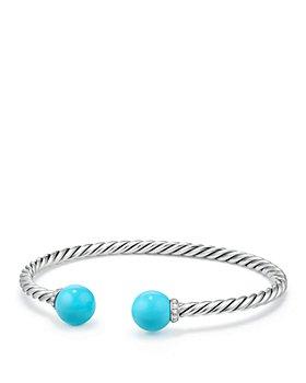 David Yurman - Solari Bracelet with Diamonds & Reconstituted Turquoise