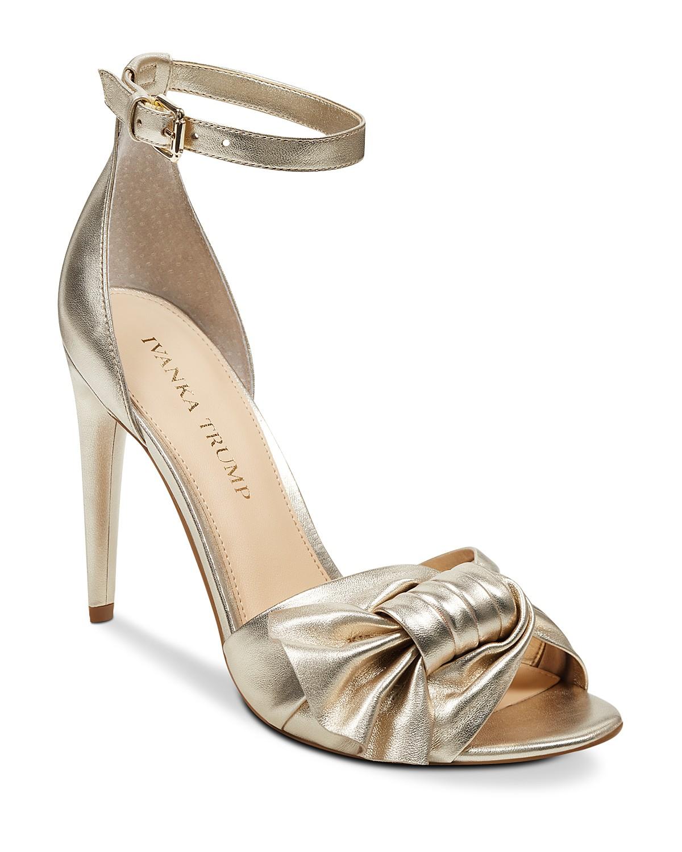 Ivanka Trump Women's Haddey Metallic Leather High-Heel Sandals 9PSwBcISu0