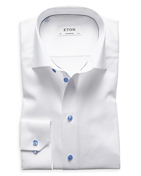 Eton - Blue Button Regular Fit Dress Shirt