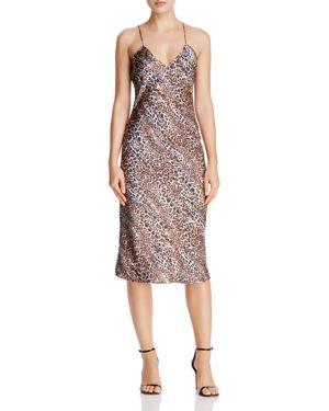 Cami Nyc Raven Leopard-Print Silk Midi Dress