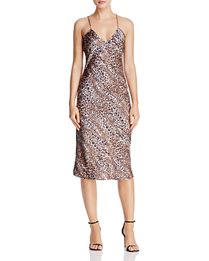 Cami Nyc Raven Leopard-Print Silk Midi Dress
