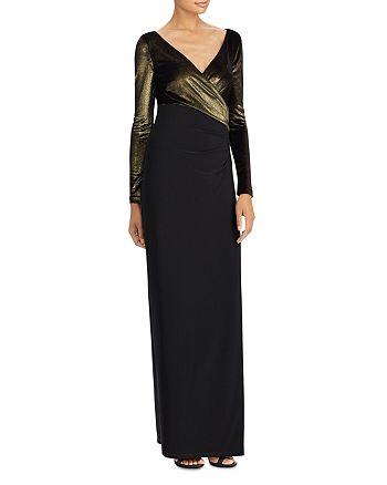 Ralph Lauren - Metallic-Bodice Gown